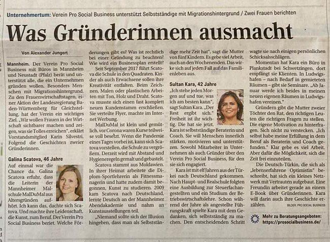 Zeitungsartikel Mannheimer Morgen
