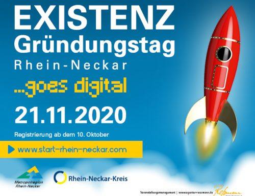 Am 21.11.20 ist Existenzgründungstag Rhein-Neckar.