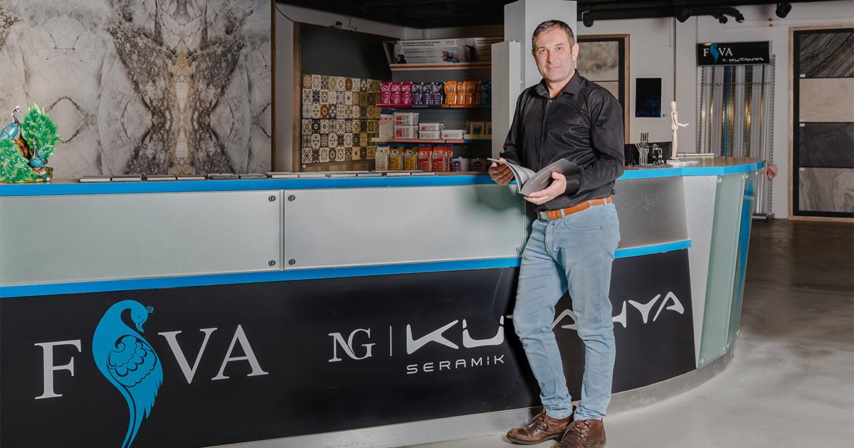 Ali Gencer, Fliesenhandel. Gegründet 2019 mit Unterstützung von Pro Social Business e.V.