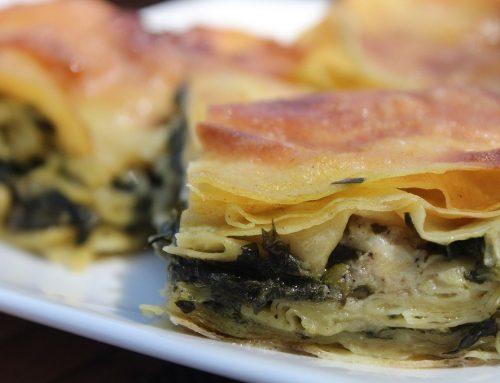 Börek Schnecken mit Spinat-Käse Füllung